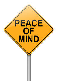 peace of mind sign